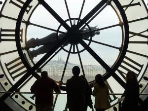 O relógio doMuseu de Orsay.