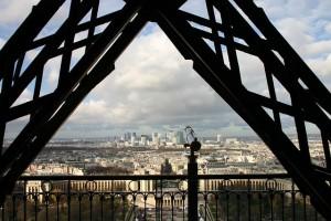Vista panorâmica sobre Paris da Torre Eiffel